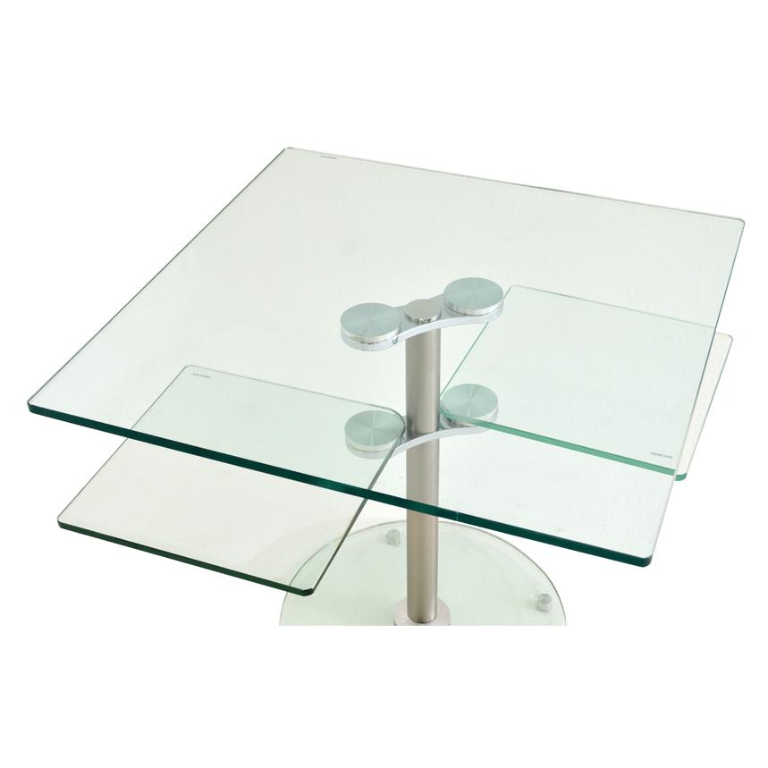 Square Clear Side Table  alternate image, 2 of 4 images.