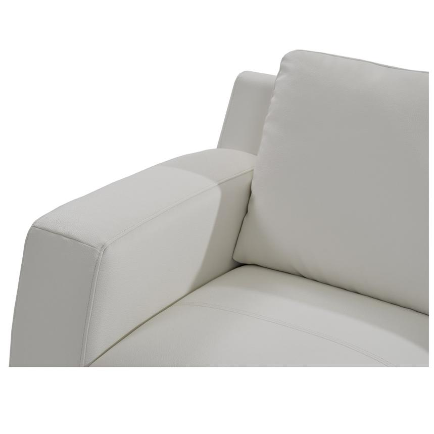 Cantrall White Loveseat  alternate image, 3 of 5 images.