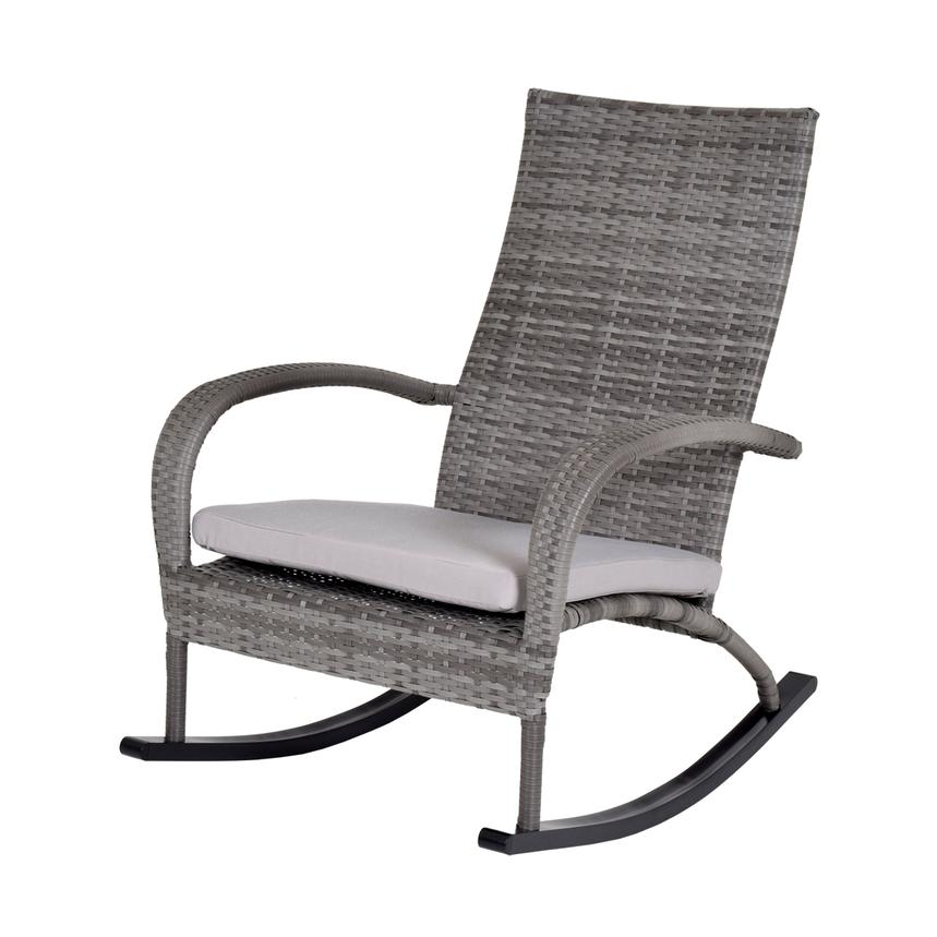 Neilina Gray Rocking Chair  main image, 1 of 5 images.