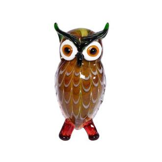 Big Eyes Owl Glass Sculpture