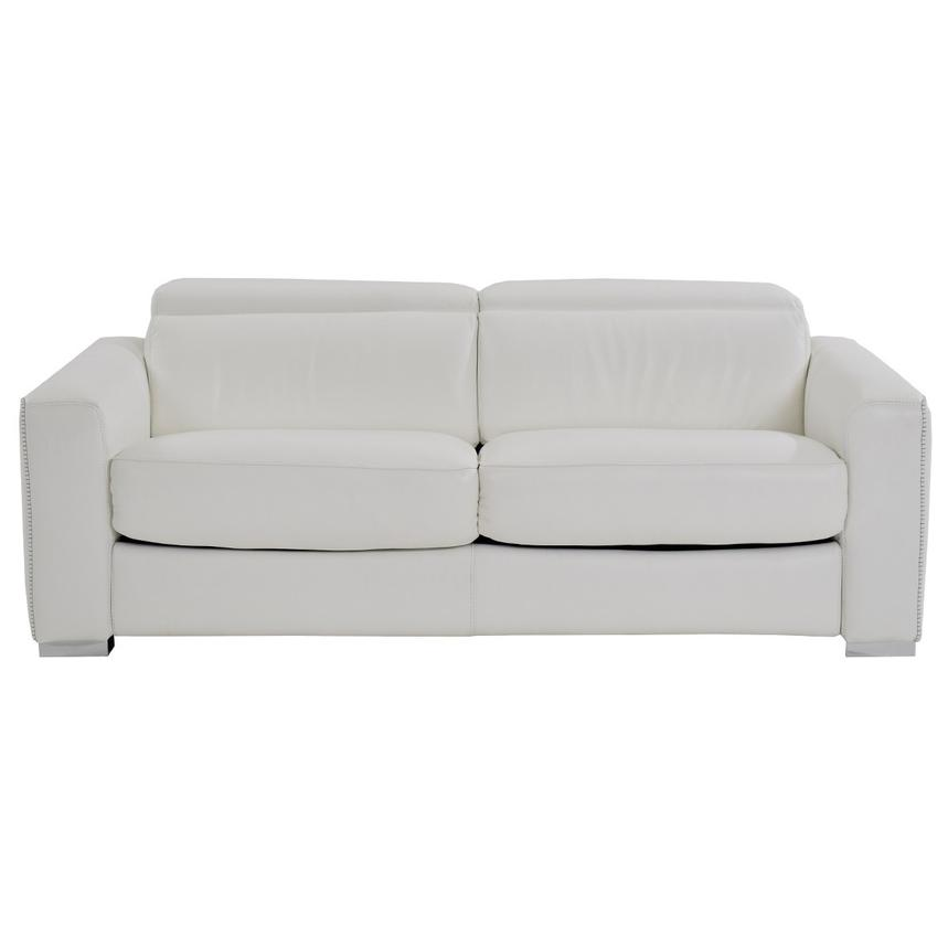 Bay Harbor White Leather Sleeper