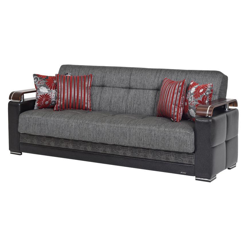 Ekol Gray Futon Sofa W Storage