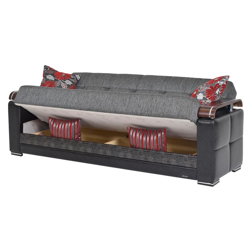 Ekol Gray Futon Sofa W Storage