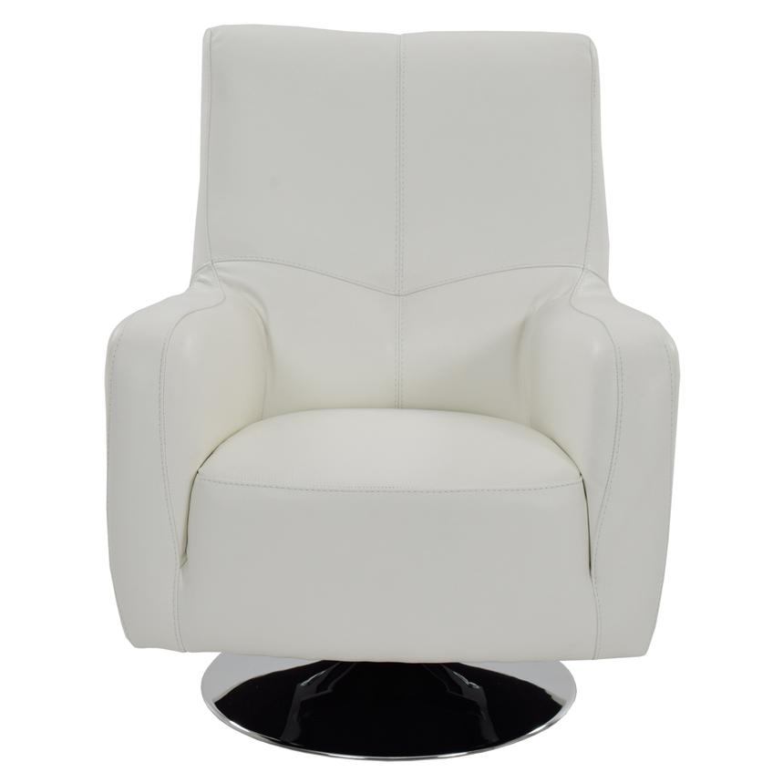Verona White Leather Swivel Chair | El Dorado Furniture