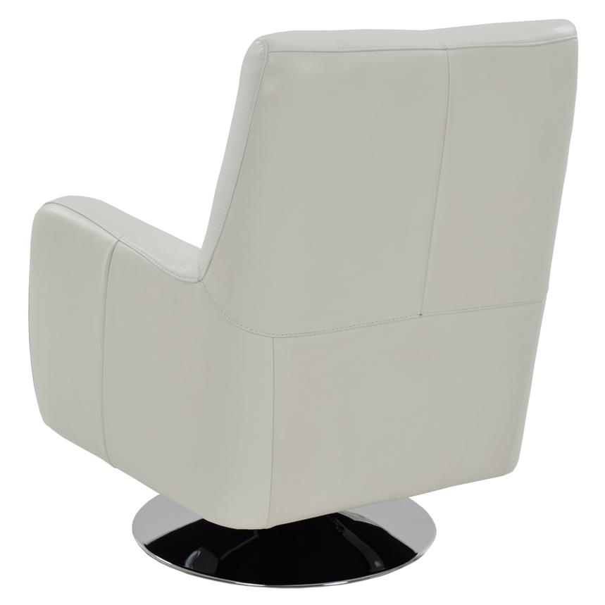 Verona White Leather Swivel Chair  alternate image, 3 of 5 images.
