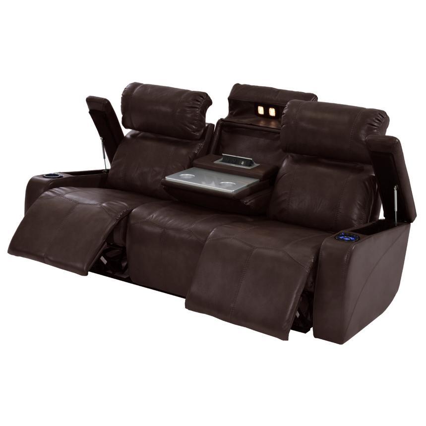 Magnetron Brown Power Reclining Sofa El Dorado Furniture