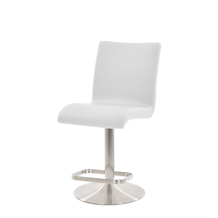 Fogo White Adjustable Stool  alternate image, 3 of 5 images.