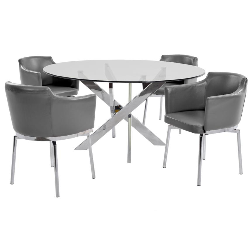 Dusty Gray 5-Piece Dining Set  main image, 1 of 8 images.