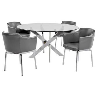 Dusty Gray 5-Piece Dining Set