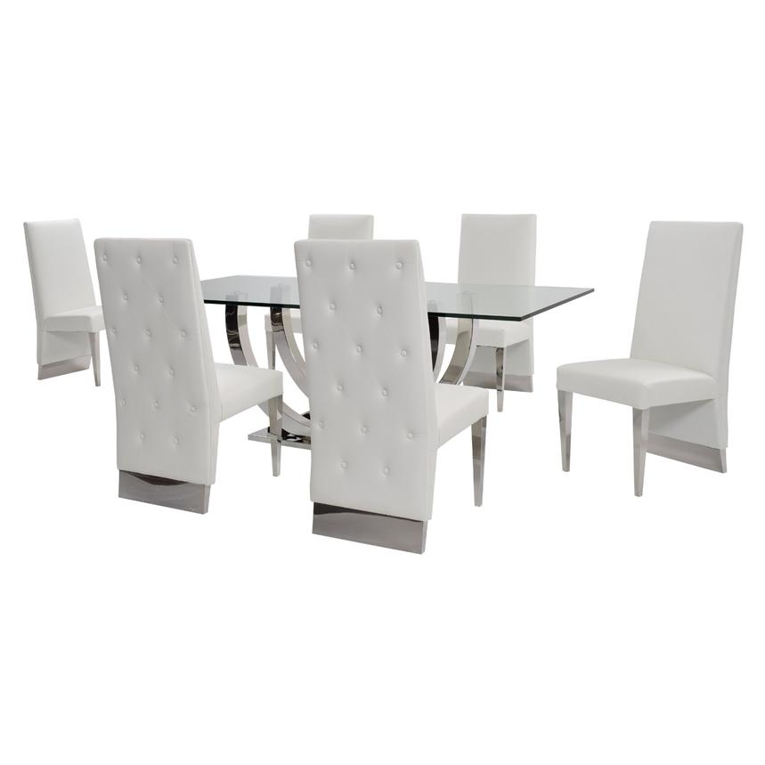 Ulysis White 5-Piece Formal Dining Set  alternate image, 3 of 12 images.