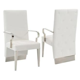 Ulysis White Arm Chair