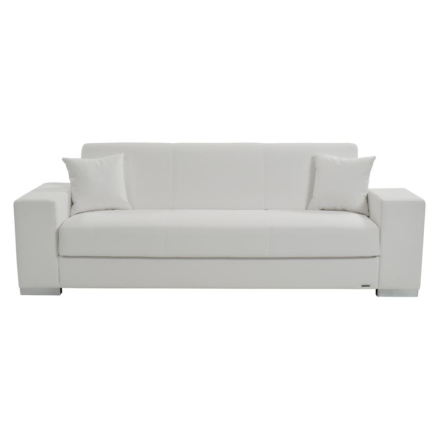 Kobe White Futon Sofa  alternate image, 3 of 8 images.