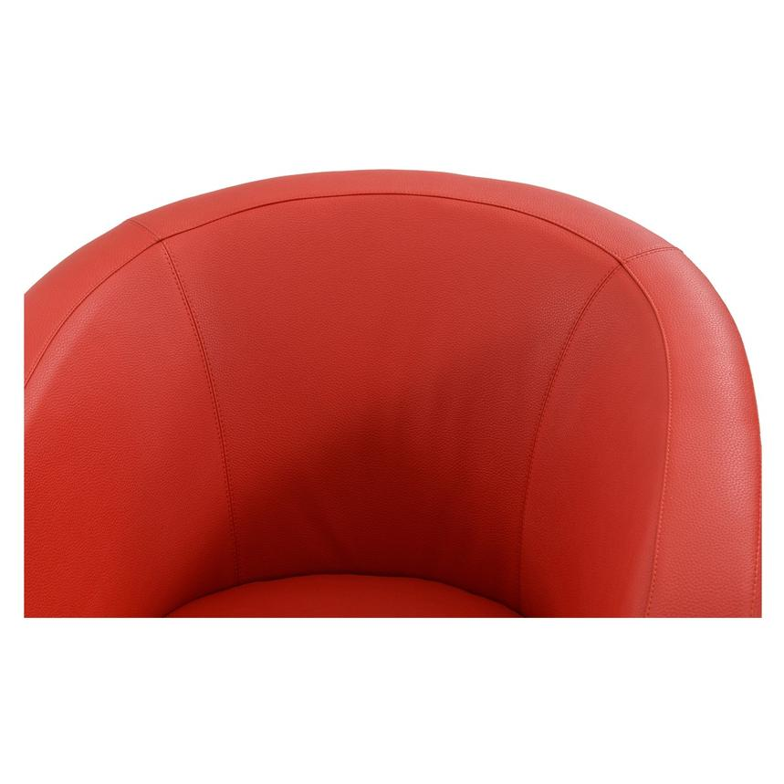 Delia Red Swivel Accent Chair  alternate image, 3 of 5 images.