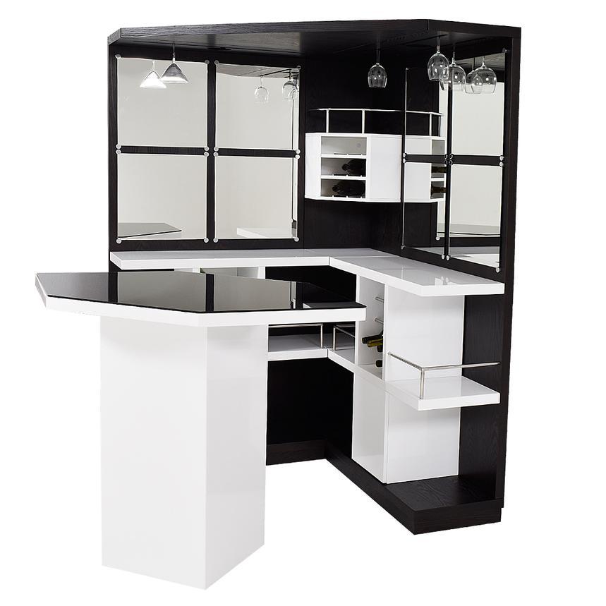 Nostran Dark Oak Corner Bar W Table, Corner Bar Furniture