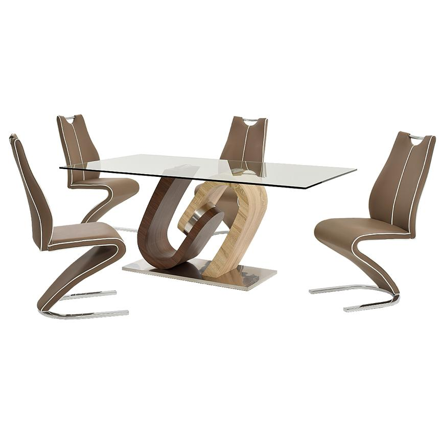 Serpentine 5-Piece Dining Set  main image, 1 of 12 images.