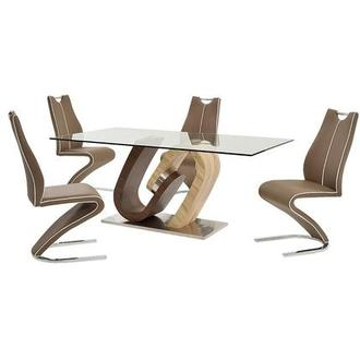 Serpentine 5 Piece Casual Dining Set