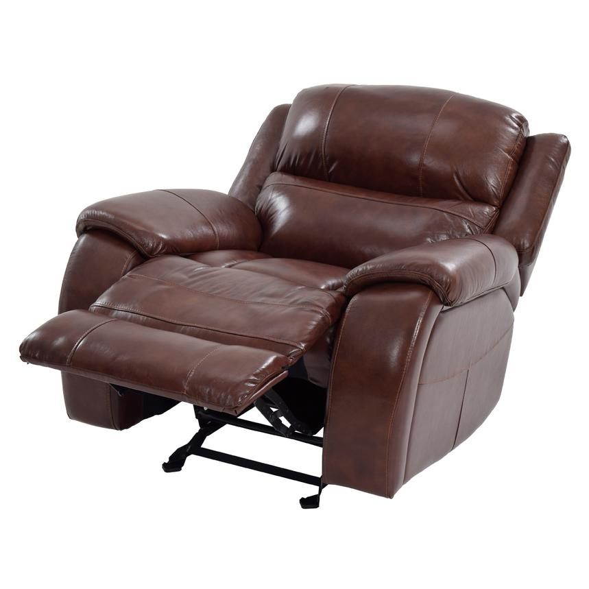 Abilene Leather Glider Recliner  alternate image, 3 of 9 images.