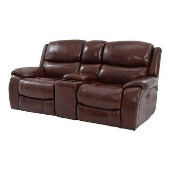 Abilene Recliner Leather Sofa w/Console