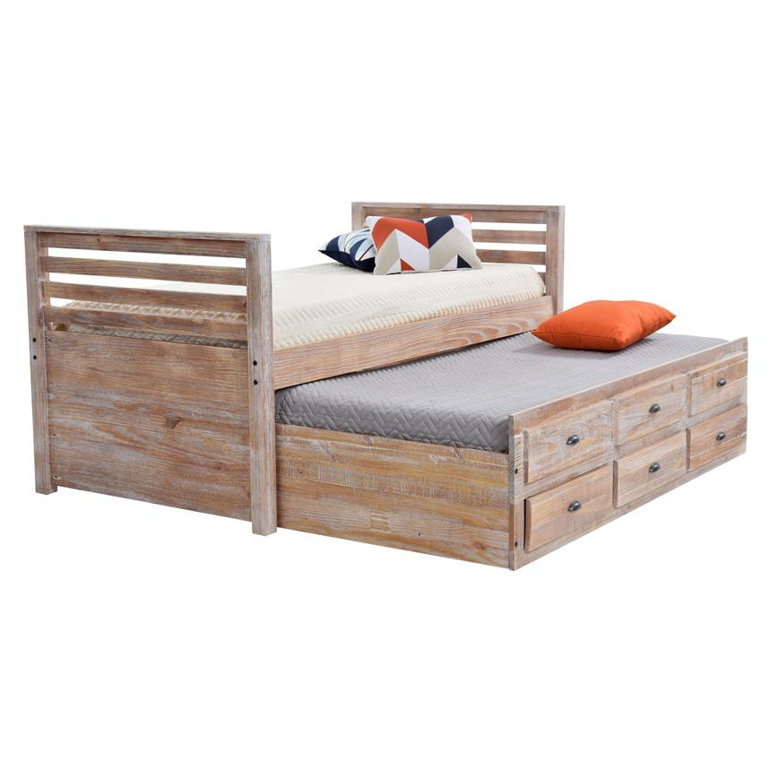 Montauk Natural Twin Storage Captain Bed Made in Brazil  alternate image, 2 of 8 images.