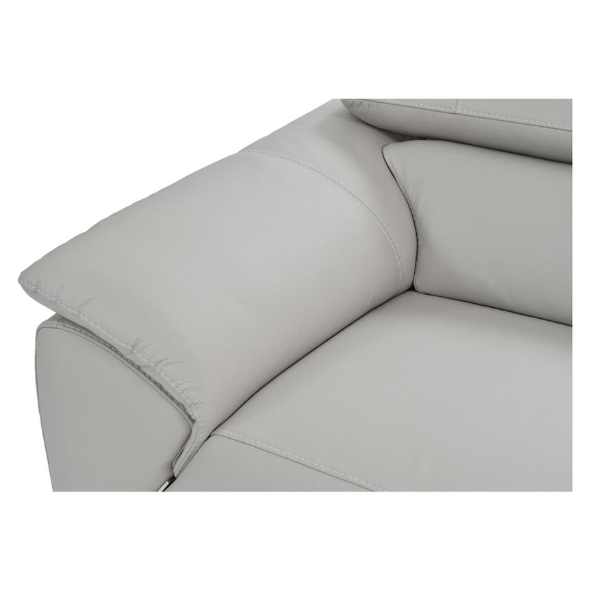 Tesla Gray Leather Sofa w/Right Chaise  alternate image, 3 of 8 images.