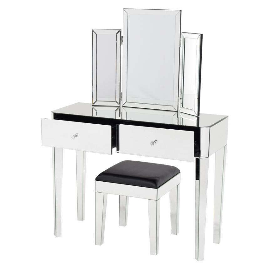 Clea Vanity Desk w/Bench  alternate image, 3 of 9 images.