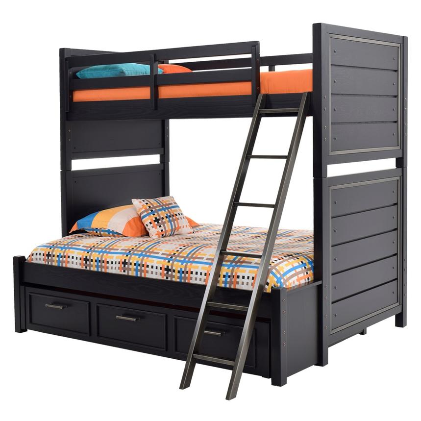 Graphite Twin Over Full Bunk Bed  alternate image, 3 of 7 images.
