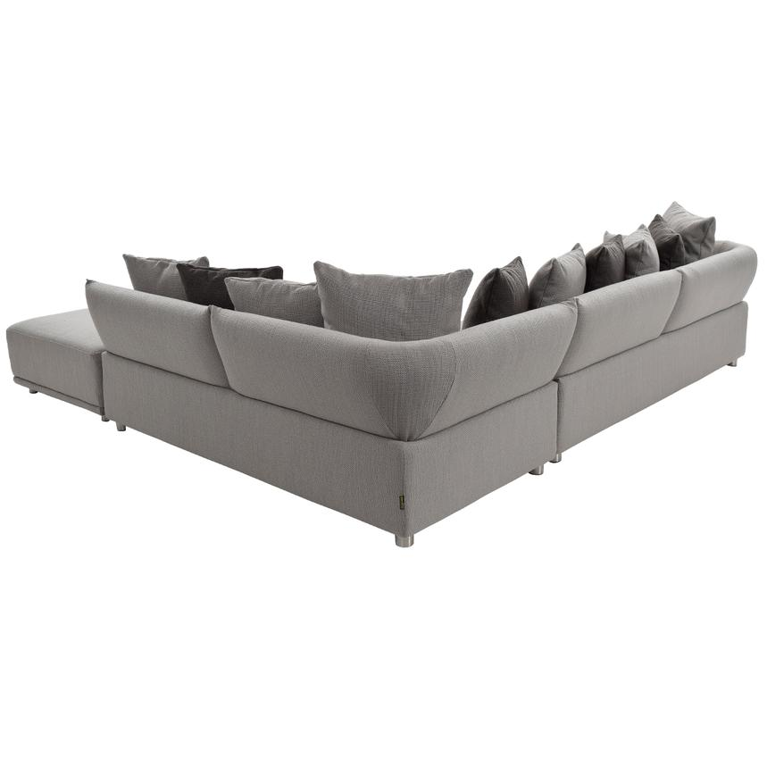 Alonzo Gray Sectional Sofa w/Ottoman  alternate image, 2 of 5 images.
