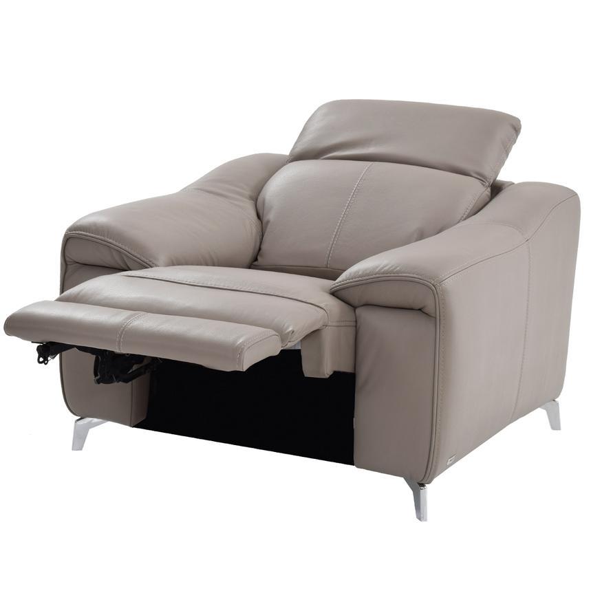 Gaspy Gray Power Motion Leather Recliner El Dorado Furniture
