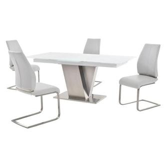 Maday White 5-Piece Formal Dining Set