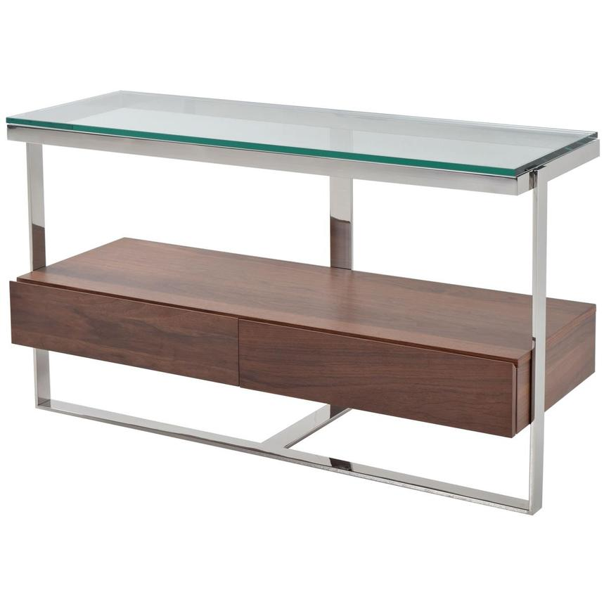 Calypso Walnut Console Table  alternate image, 2 of 4 images.