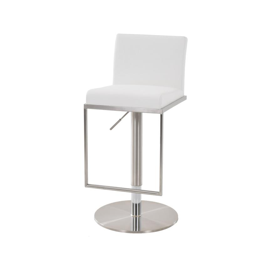 Brisa White Adjustable Stool  alternate image, 2 of 5 images.