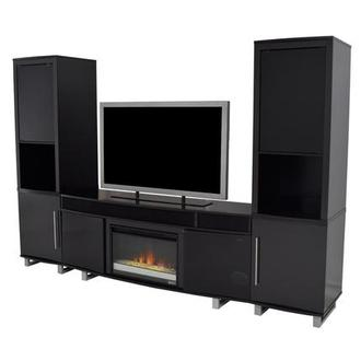 Enterprise Black Wall Unit w/Speakers