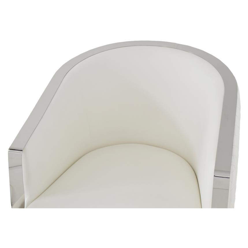Maxi White Accent Chair  alternate image, 4 of 5 images.