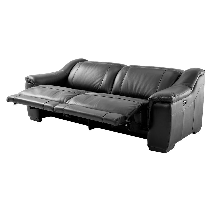 Davis Black Power Motion Leather Sofa  alternate image, 2 of 9 images.