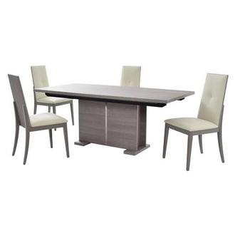 Tivo Gray 5-Piece Formal Dining Set Made in Italy