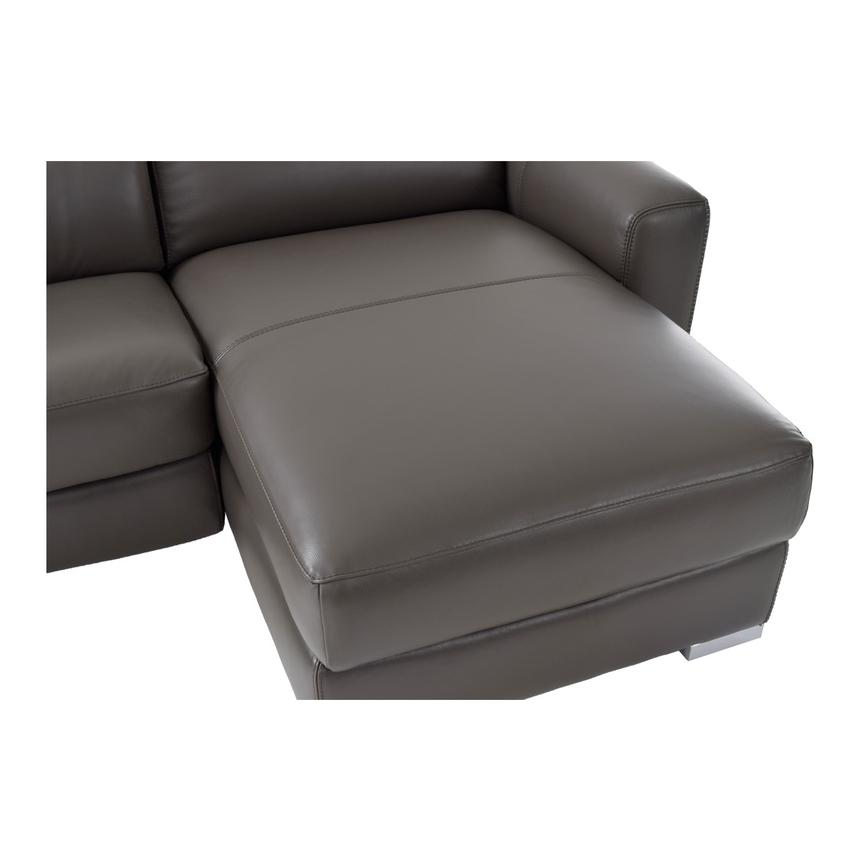 Bay Harbor Gray Leather Sleeper w/Right Chaise  alternate image, 8 of 10 images.