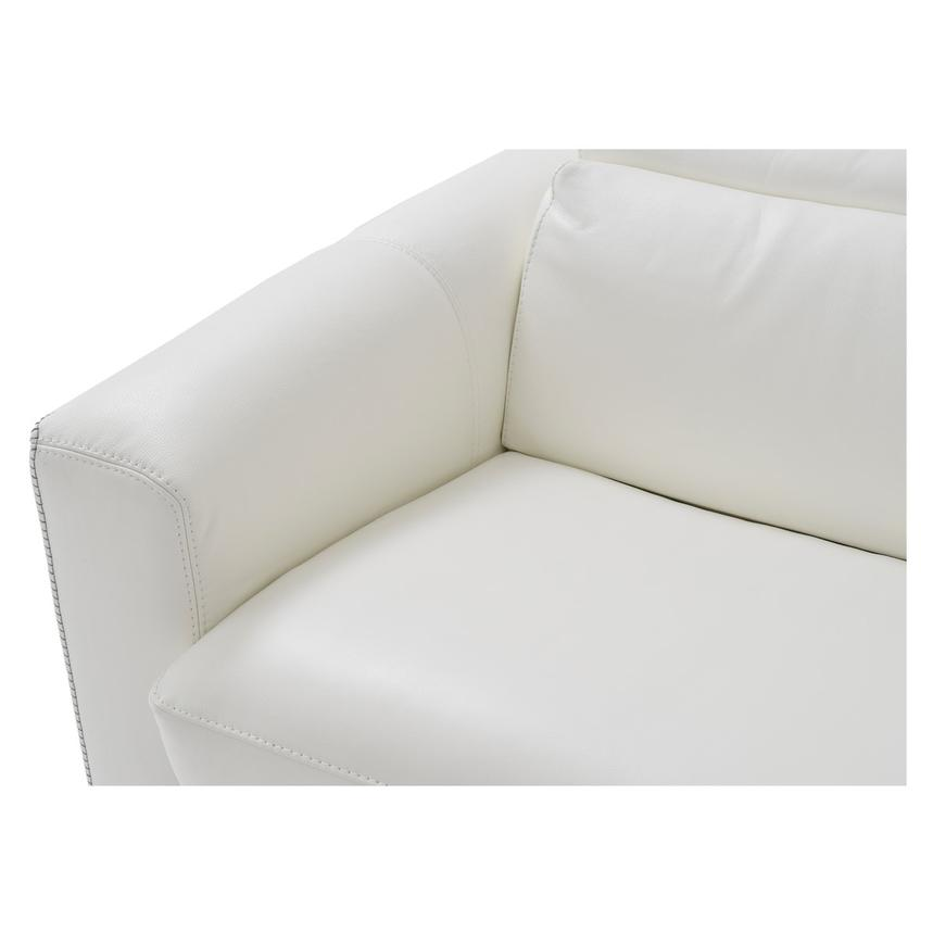 Bay Harbor White Leather Sleeper w/Right Chaise  alternate image, 7 of 10 images.