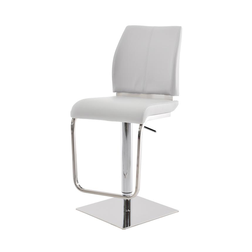 Maday White Adjustable Stool  alternate image, 3 of 5 images.