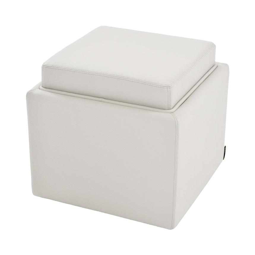 Bucky White Ottoman w/Storage  alternate image, 2 of 4 images.