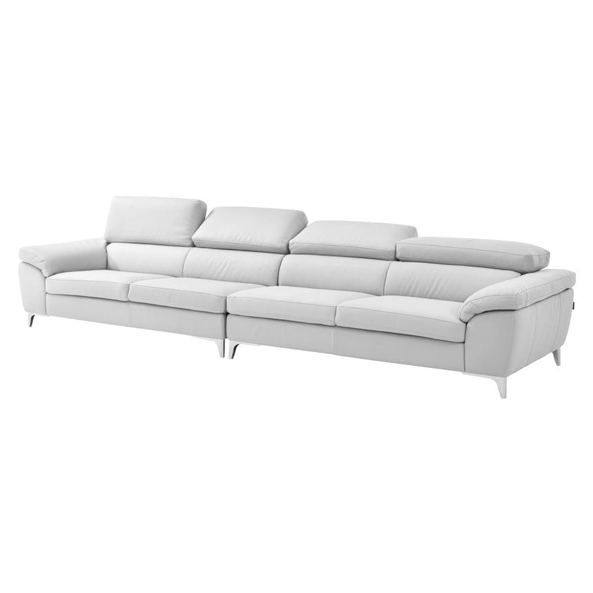 Costa White Oversized Sofa  alternate image, 2 of 7 images.