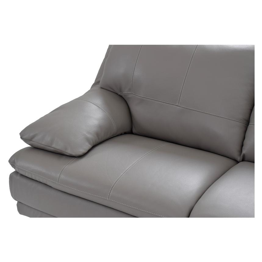 Rio Light Gray Leather Corner Sofa w/Right Chaise  alternate image, 3 of 8 images.