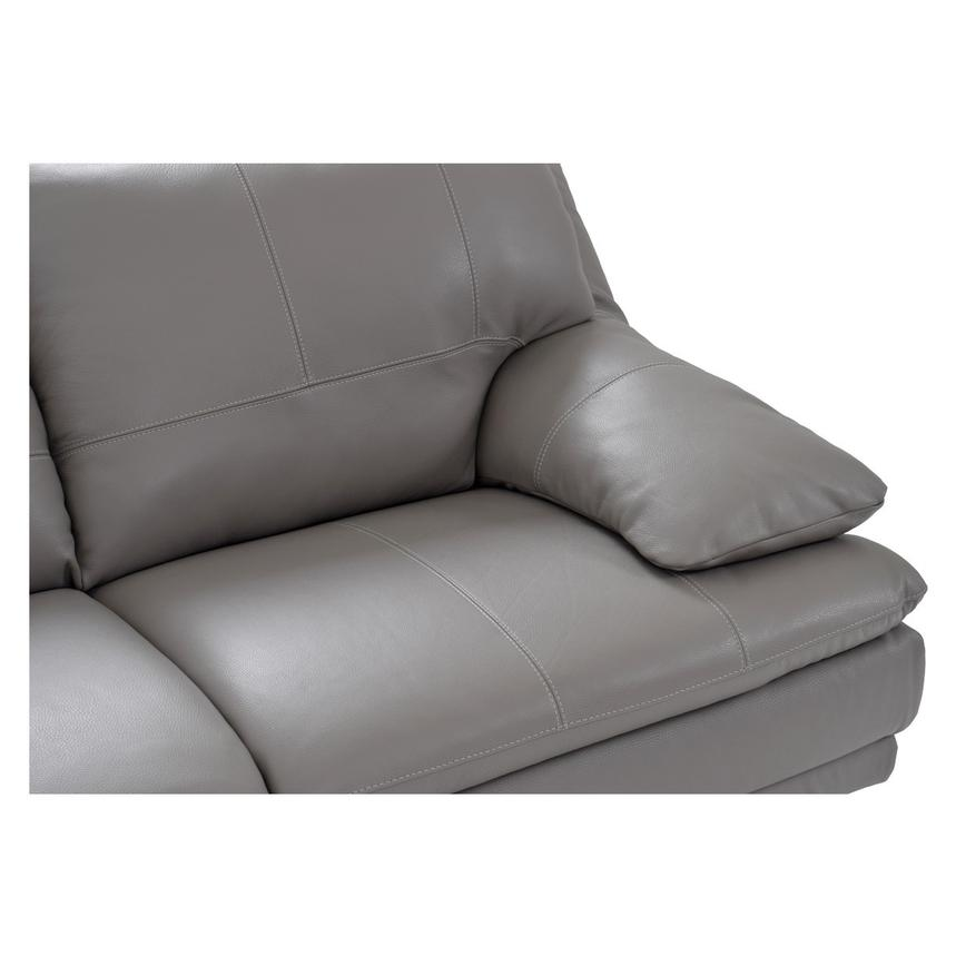 Rio Light Gray Leather Sofa w/Left Chaise  alternate image, 3 of 7 images.
