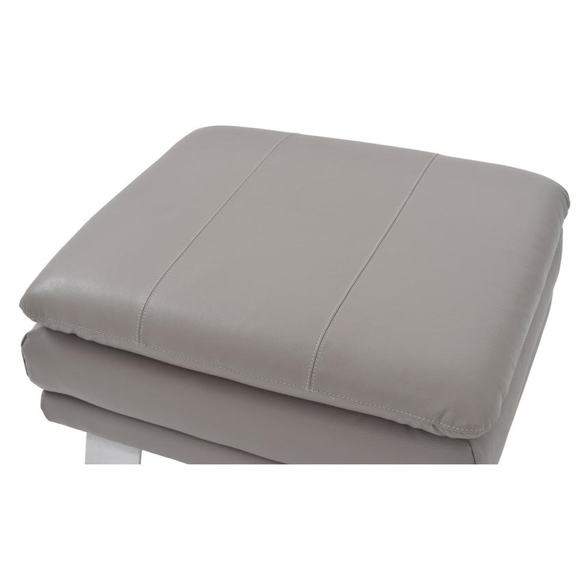 Rio Light Gray Leather Ottoman  alternate image, 3 of 5 images.