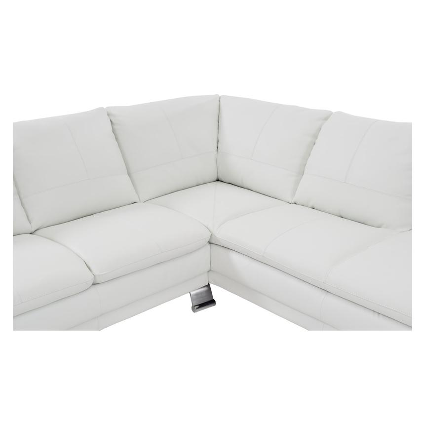 Rio White Leather Corner Sofa w/Right Chaise  alternate image, 4 of 8 images.