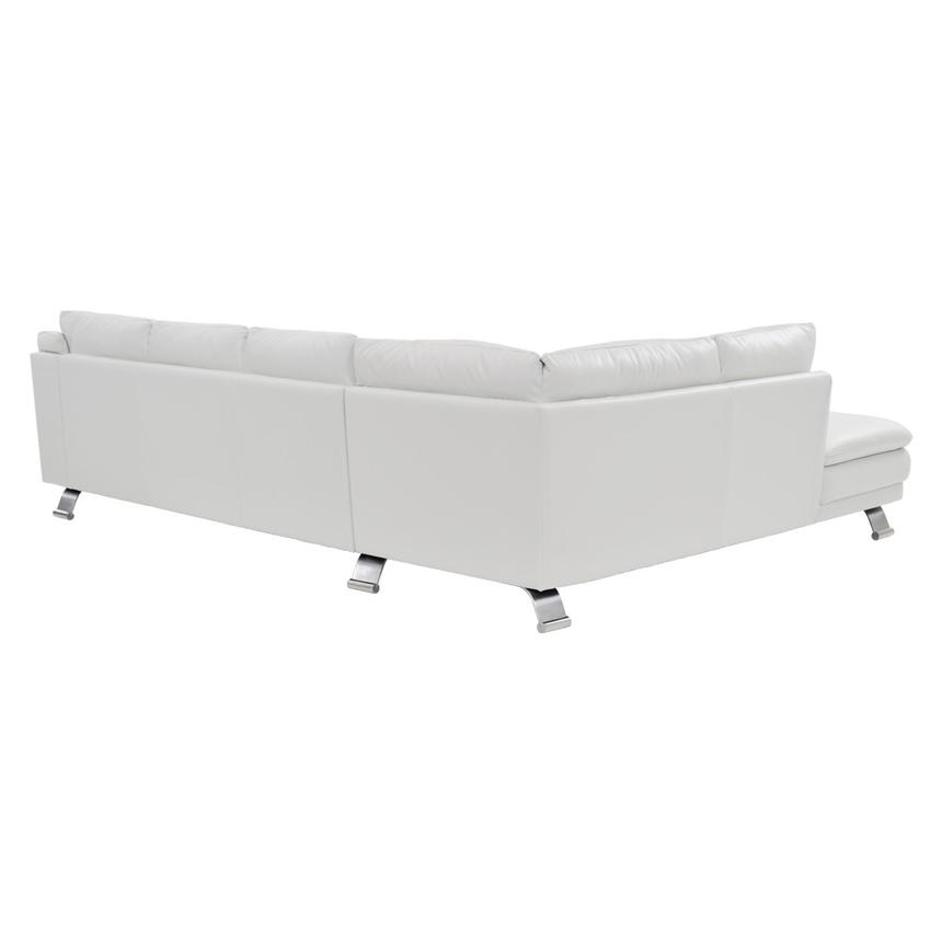 Rio White Leather Sofa w/Left Chaise  alternate image, 2 of 7 images.