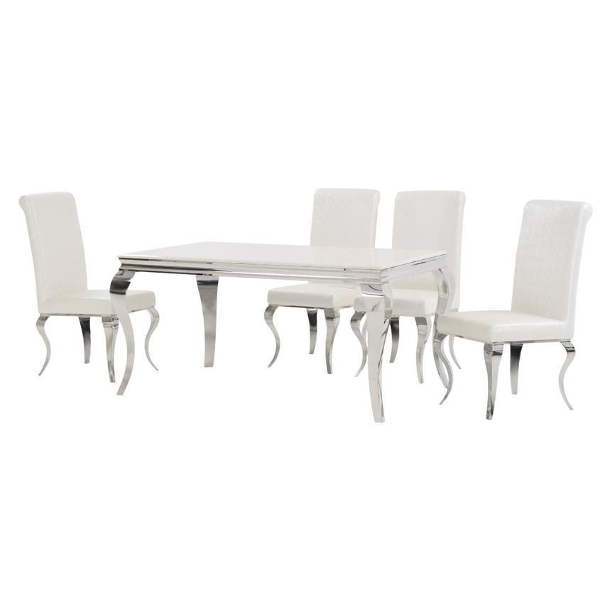 Lizbon 5-Piece Formal Dining Set  alternate image, 2 of 10 images.
