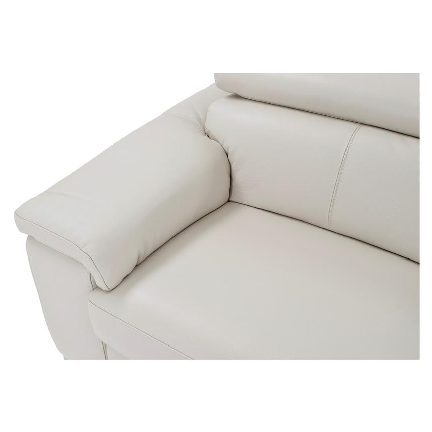 Nathan Cream Oversized Leather Sofa  alternate image, 8 of 10 images.