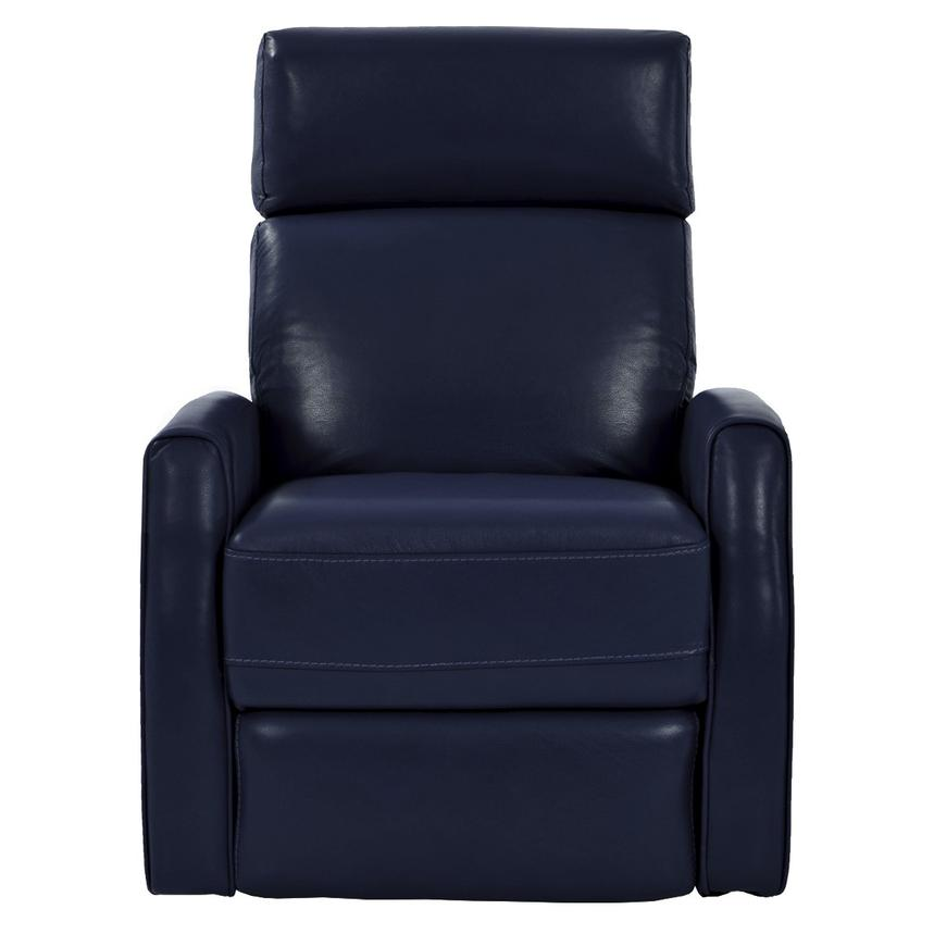 Lucca Blue Power Motion Leather Recliner  alternate image, 3 of 7 images.