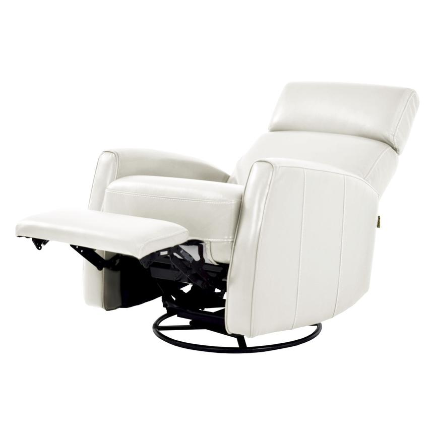 Lucca White Power Motion Leather Recliner  alternate image, 2 of 7 images.