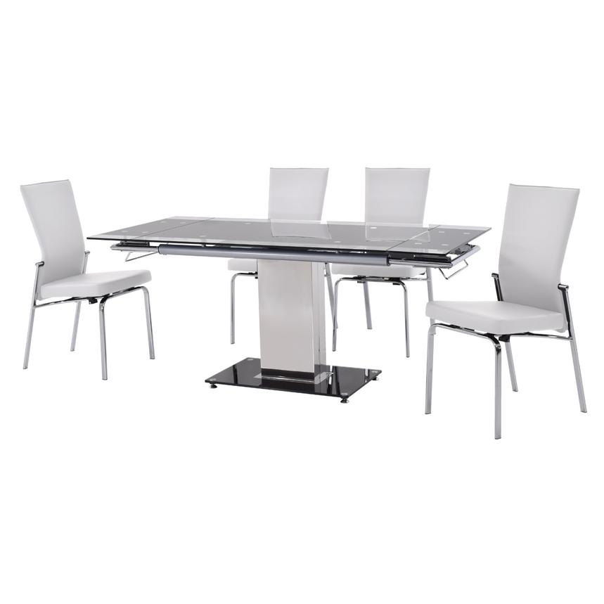 Antonia White 5-Piece Casual Dining Set  alternate image, 2 of 12 images.